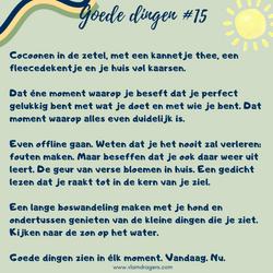 goede dingen #15