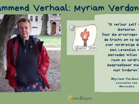 Myriam maakt rouw bespreekbaar voor kinderen