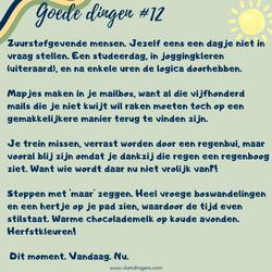 goede dingen #12