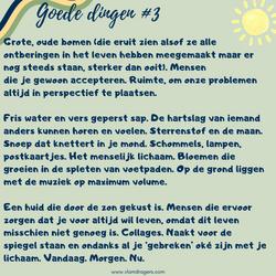 goede dingen #3