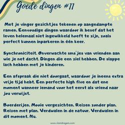 goede dingen #11