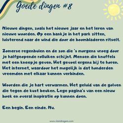 goede dingen #8