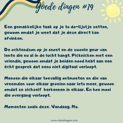 goede dingen #19
