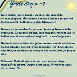 goede dingen #4