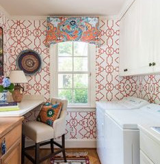 This laundry room works hard and has fun too!