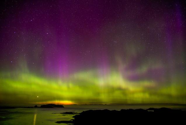 Northern Lights at Bosta Beach, Great Bernera.