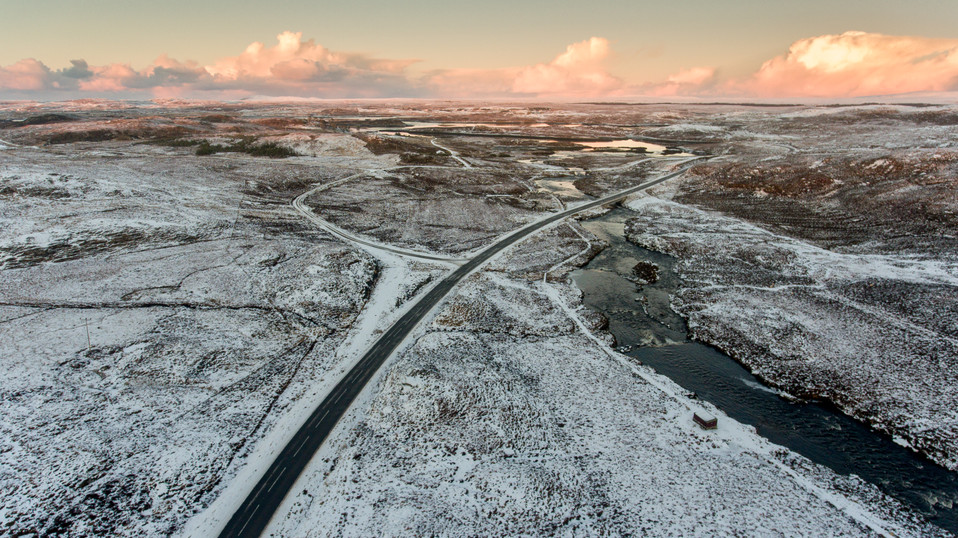 Isle of Lewis in the Snow