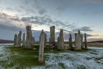 Callanish Stones in the snow