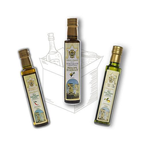 Tris di Oli aromatizzati - 250ml cad.