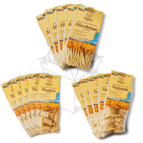 15 Pacchi di pasta - Maccheroni Calabresi, Tagliatelle e Paccheri