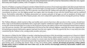 IPG Releases Statement on US Withdrawal from Afghanistan