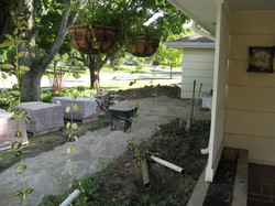 Changing from concrete to pavers.