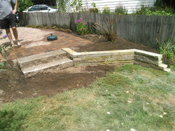Slab Stone Steps and wall