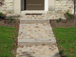 Walkway and slab steps
