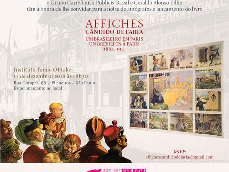 Affiches, Cândido de Faria Um Brasileiro em Paris          1882-1911