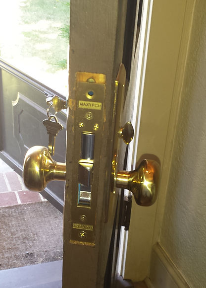 lock installed