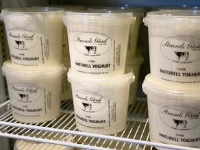 Vår egentillverkade yoghurt