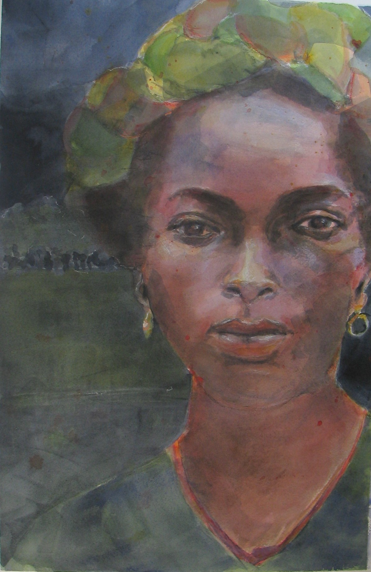 """East Africa   13""""w x 20""""h   SOLD"""