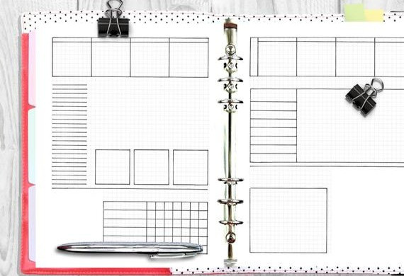 Graphic- pic of hand drawn journal template
