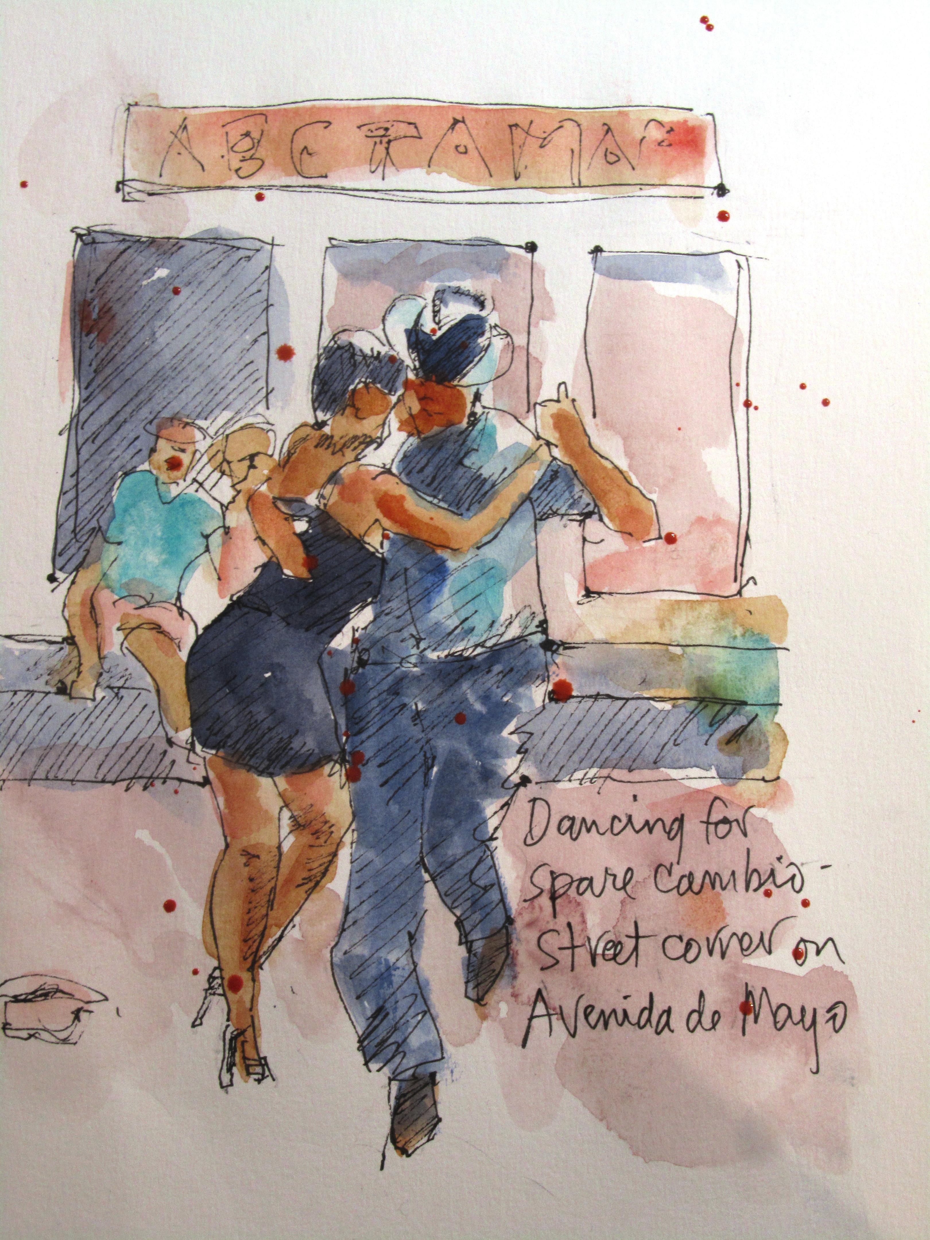 Tango on Av de Mayo