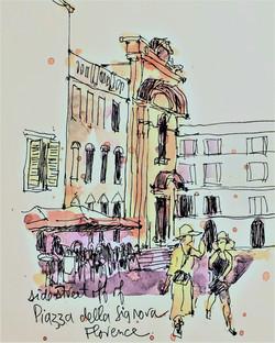 Firenze  behind Piazza della Signora