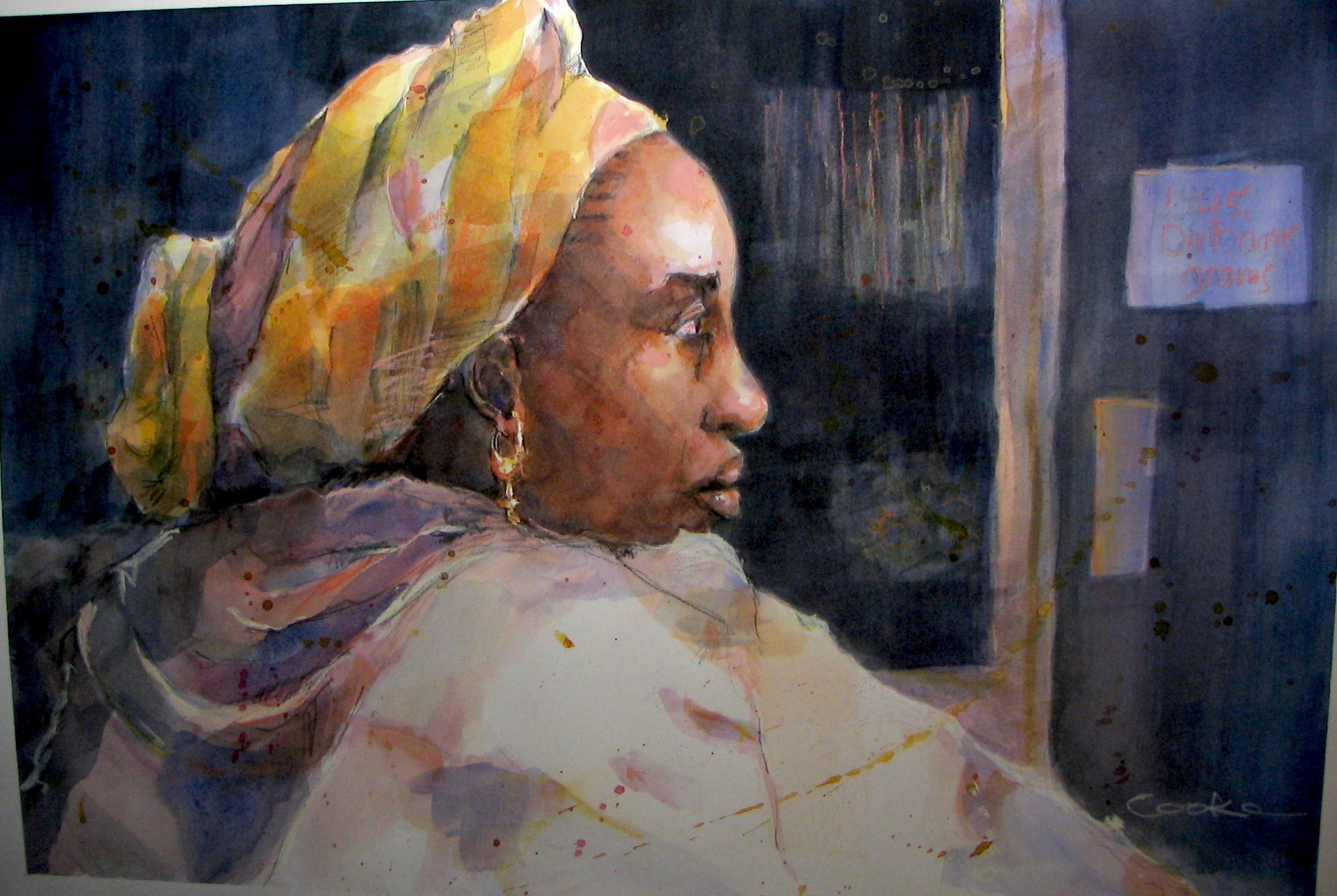 "Gold Souk 2 20""w x 13""h  SOLD"