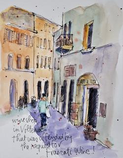Volterra wine shop