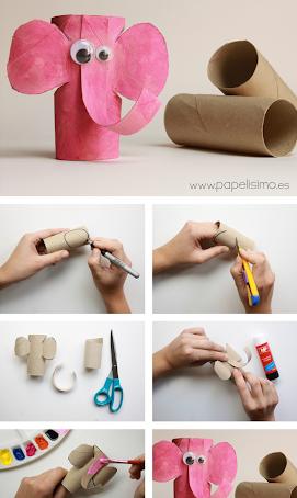 Manualidades y creatividad en cartón