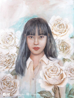 白玫瑰 White roses
