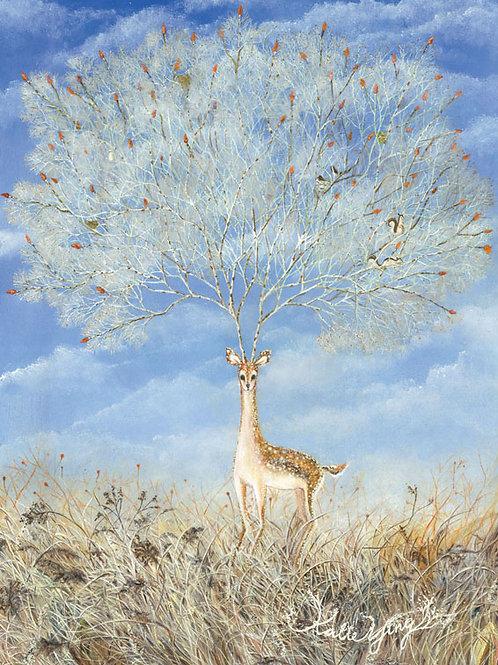 Postcard / Deer Tree
