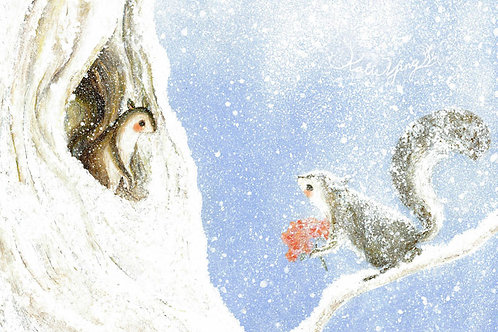 Postcard / Squirrels