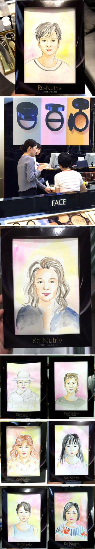 Estee Lauder 10-15mins Live Drawing