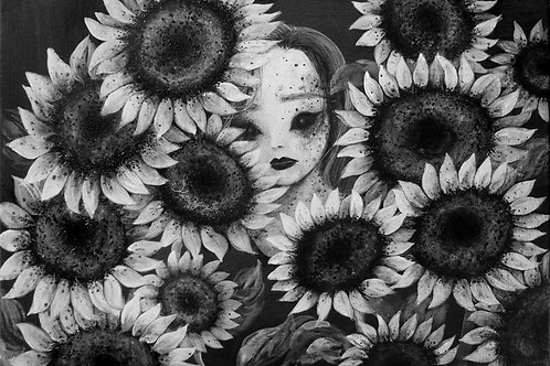 Postcard / Sunflowers