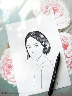 Marker pen drawing