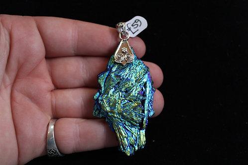 Titanium Aura Kyanite 925 Silver Pendant