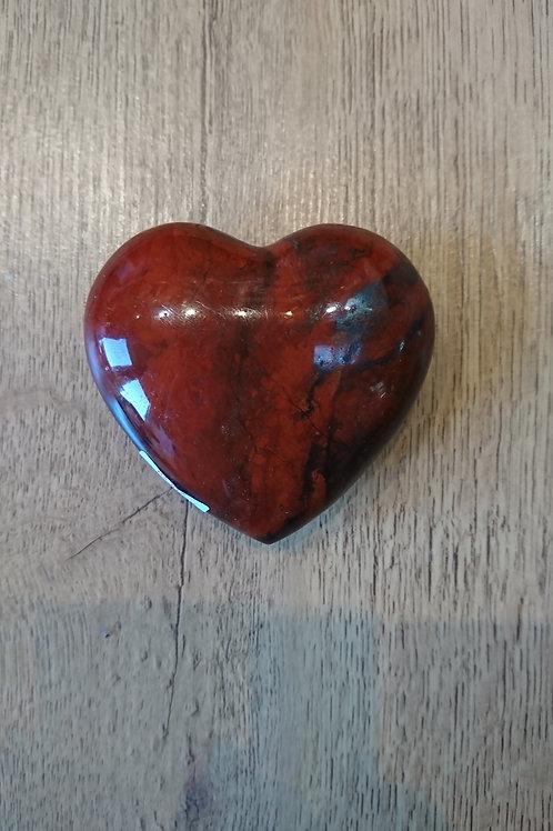 large Red Jasper Heart