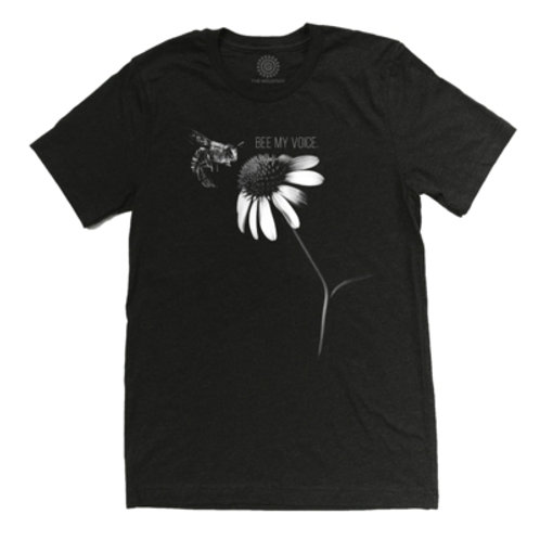 """The Mountain Unisex Bee """"Bee my Voice"""" Tri Blend T-Shirt."""