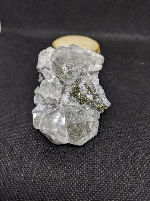Stellar Beam Calcite with Marcasite - Rare
