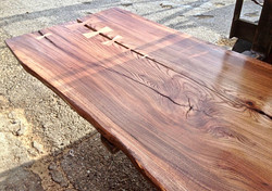English Elm slab table