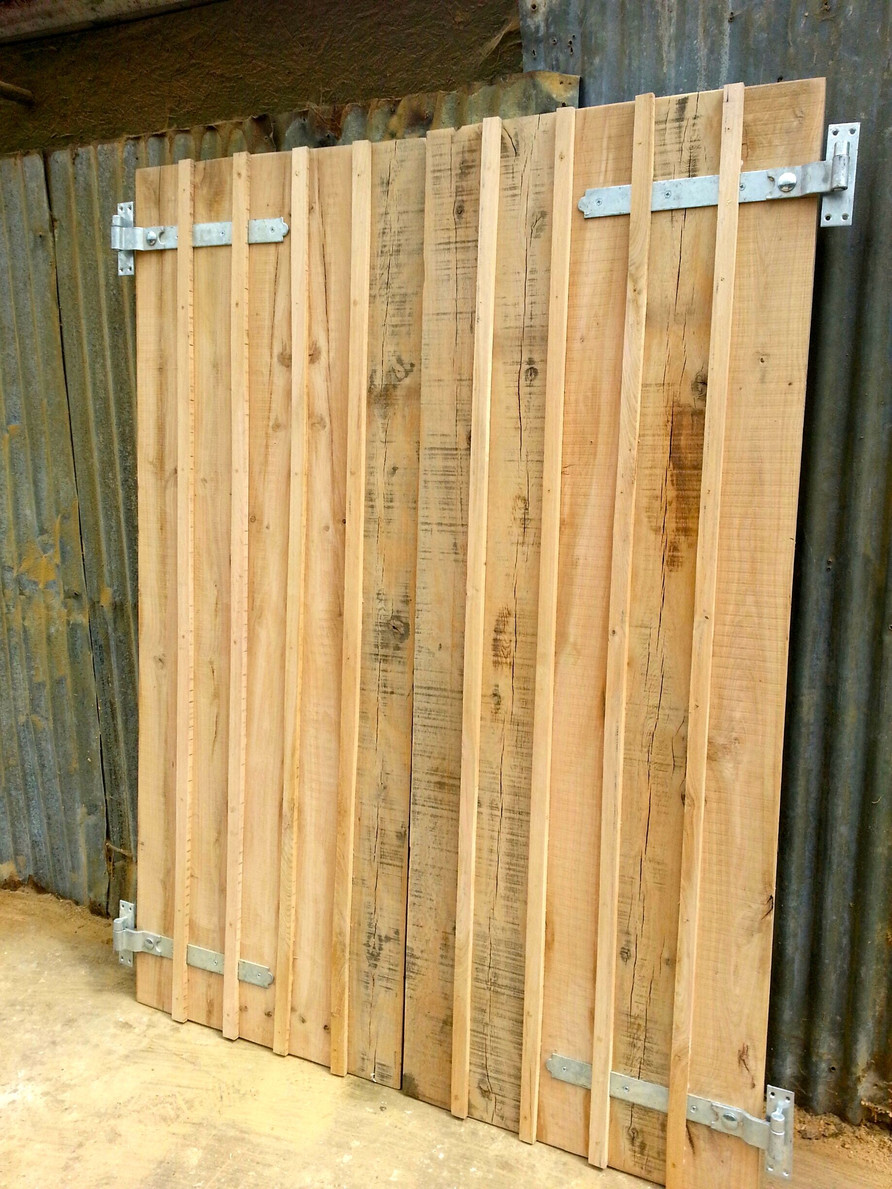 Shed doors in oak