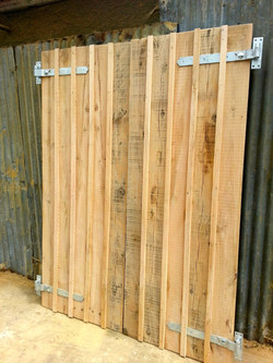 Shed doors in oak