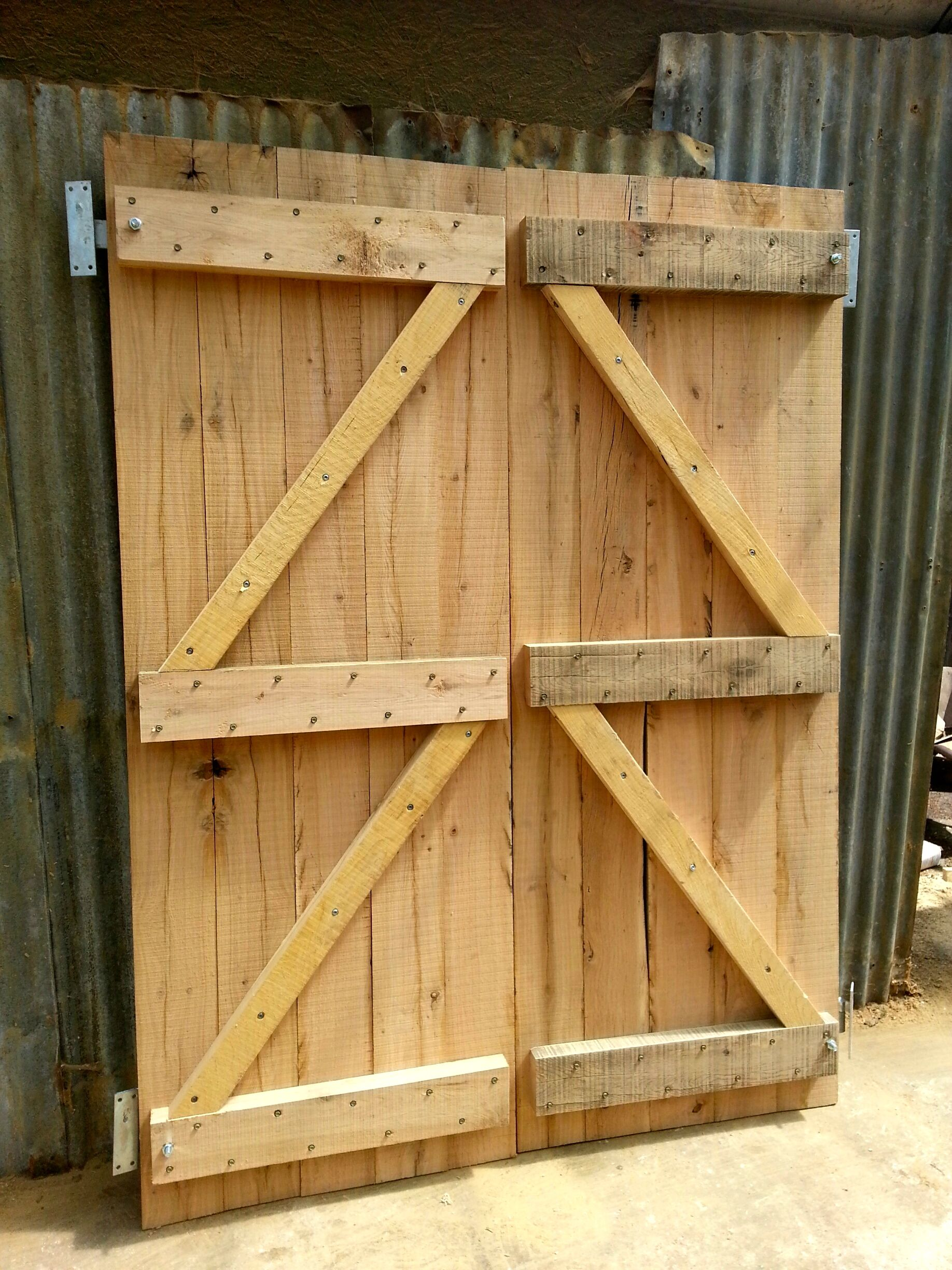 Oak doors for shed