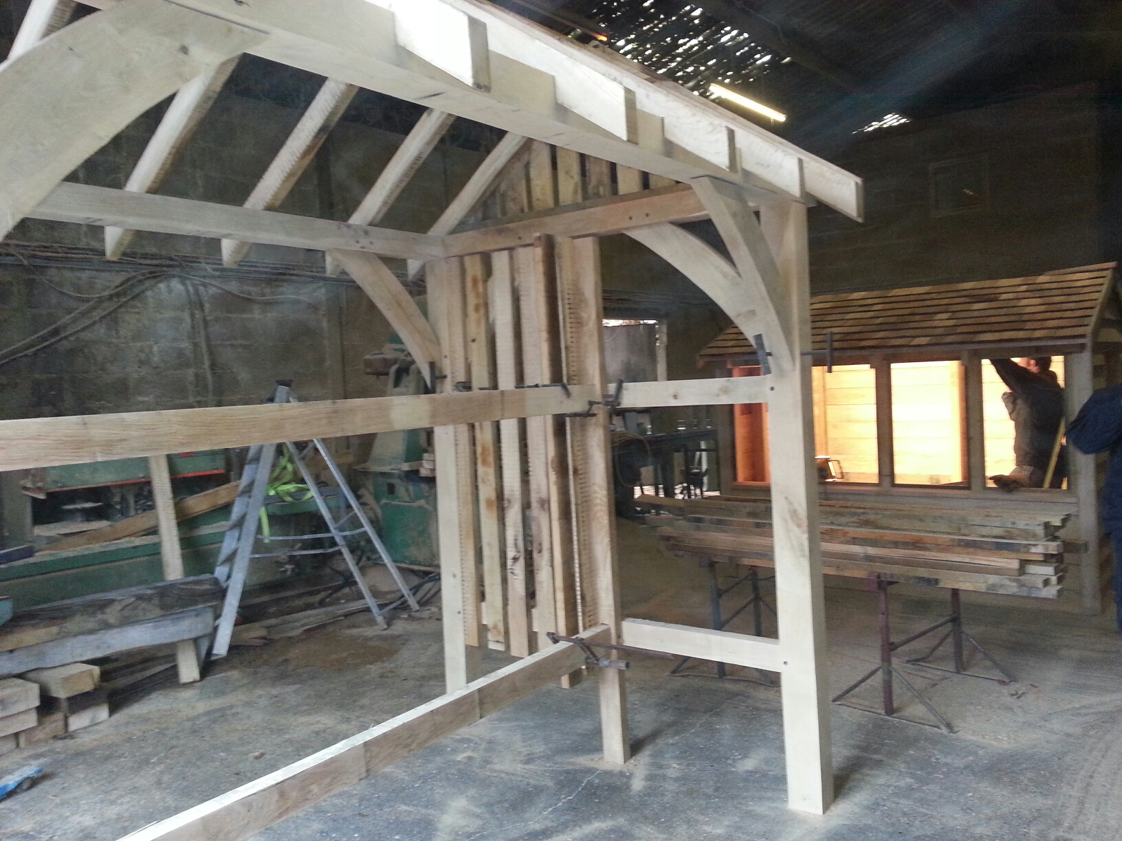 Traditional oak framing