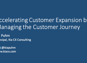 Accelerating Customer Expansion by Managing the Customer Journey