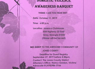 Domestic Violence Awareness Banquet to be held in Jones County