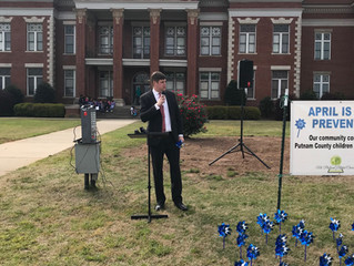 Pinwheel Planting and Proclamation Ceremony in Putnam County, Georgia