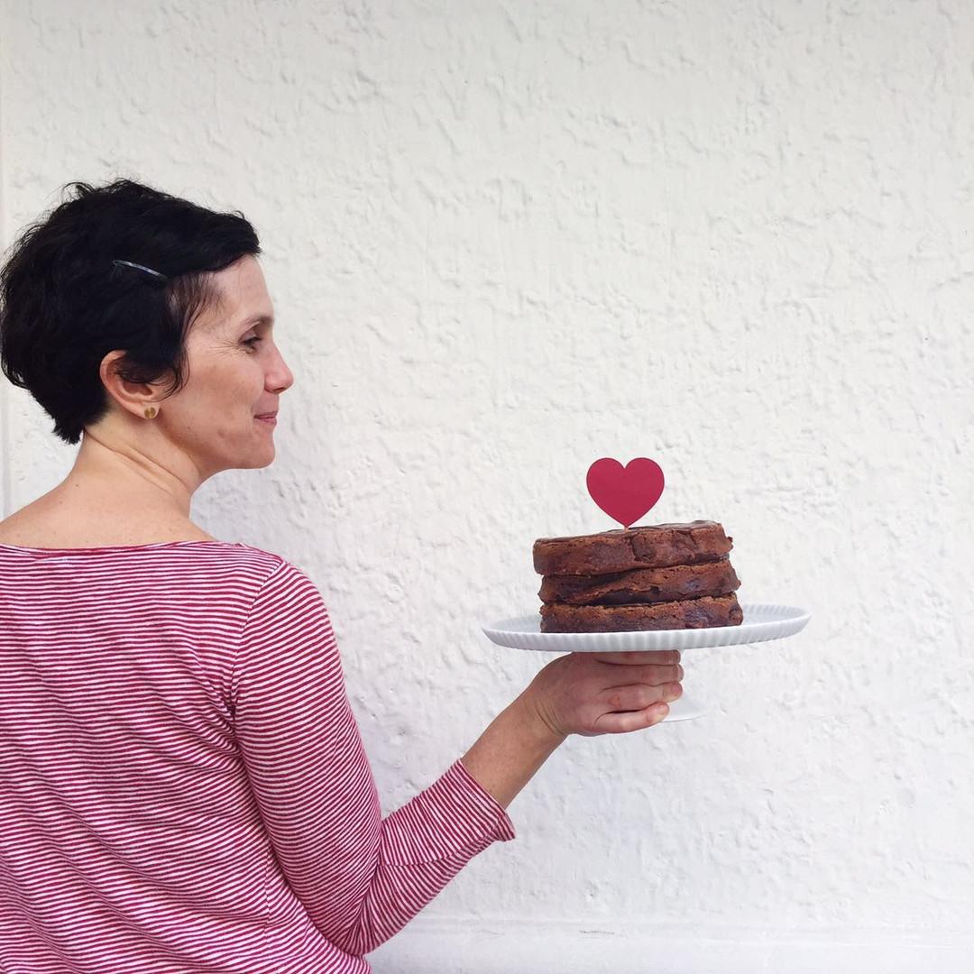 Nosso bolo de brownie!!
