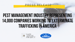 Pest Management Industry Representing 14,000 Companies Working To Exterminate Trafficking in America