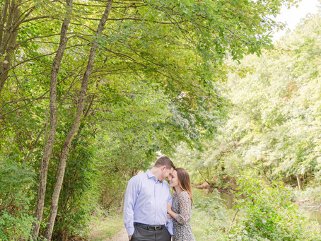 WOODSY RIVERSIDE ENGAGEMENT SESSION // HALEY & RYAN