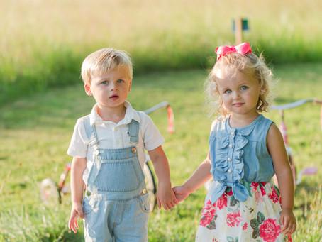 GOLDEN HOUR WILD GRASS FAMILY SESSION // NORFOLK AIR FIELD